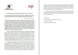 Communiqué de Presse TLP-ACP